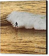 Santa Cruz Surfing At The Golden Hour Canvas Print by Artist and Photographer Laura Wrede