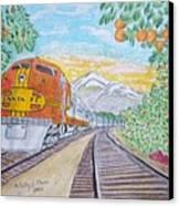 Santa Fe Super Chief Train Canvas Print