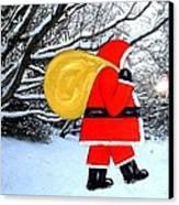 Santa In Winter Wonderland Canvas Print
