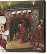 Santa Surprise Canvas Print by Kimberly Daniel