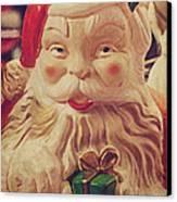 Santa Whispers Vintage Canvas Print