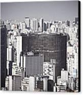 Sao Paulo - Aerial View Canvas Print by Ricardo Lisboa