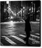 Sao Paulo Street At Night Canvas Print