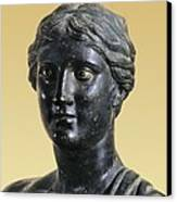Sappho 612-545 Bc. Greek Art. Sculpture Canvas Print