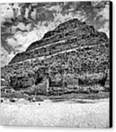 Saqqara Pyramid Canvas Print by George Rossidis