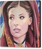 Sardinian Lady Canvas Print by Andrei Attila Mezei