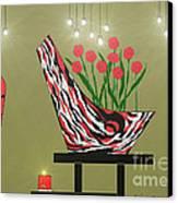 Sassy Decor Canvas Print by Lewanda Laboy