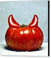 Satans Tomato Canvas Print by Aditya Misra