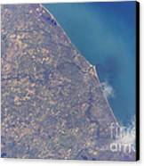 Satellite View Of St. Joseph Area Canvas Print by Stocktrek Images