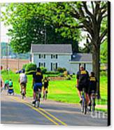 Saturday Bike Ride Canvas Print by Tina M Wenger