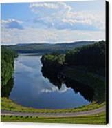 Saville Dam Scenic Canvas Print by Stephen Melcher