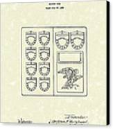 Savings Book 1926 Patent Art Canvas Print by Prior Art Design