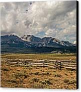 Sawtooth Range Canvas Print by Robert Bales