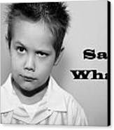 Say What Canvas Print by Stephanie Grooms