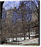 Scene From Central Park - Nyc Canvas Print by Madeline Ellis