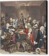 Scene In A Gaming House, Plate Vi Canvas Print by William Hogarth