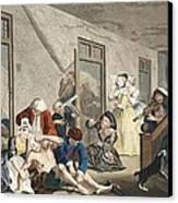 Scene In Bedlam, Plate Viii, From A Canvas Print by William Hogarth
