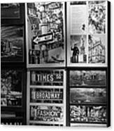 Scenes Of New York In Black And White Canvas Print by Rob Hans