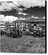 Schellbourne Station And Old Truck Canvas Print by Robert Bales