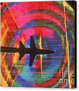 Schlieren Image Of Aircraft Canvas Print by Garry Settles