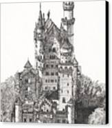 Schloss Neuschwanstein  Canvas Print by John Simlett