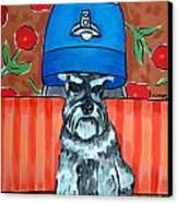 Schnauzer At The Salon Canvas Print by Jay  Schmetz