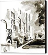 School Days At Ursuline II Canvas Print by Kip DeVore