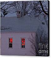 School House Sunset Canvas Print by Cheryl Baxter