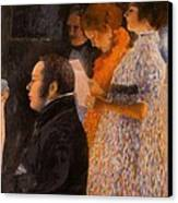 Schubert At The Piano  - After Klimt Canvas Print by Don Perino