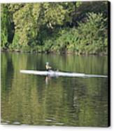 Schuylkill Rower Canvas Print by Bill Cannon