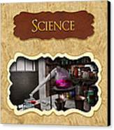 Science Button Canvas Print by Mike Savad