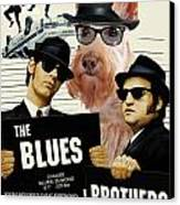 Scottish Terrier Art Canvas Print - The Blues Brothers Movie Poster Canvas Print by Sandra Sij