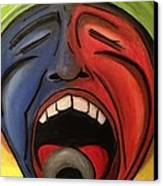 Screaming Singer Canvas Print by D August