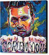 Screw You Canvas Print by Maria Arango
