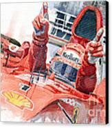 Scuderia Ferrari Marlboro F 2001 Ferrari 050 M Schumacher  Canvas Print by Yuriy  Shevchuk