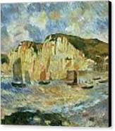 Sea And Cliffs Canvas Print by Pierre-Auguste Renoir