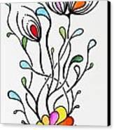 Sea Flowers Canvas Print by Carolyn Weir