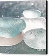 Sea Glass Aqua Shimmer Canvas Print by Barbara McMahon