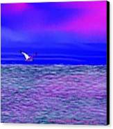 Sea. Last Rays Of Sun Canvas Print