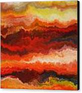 Sea Of Fire  Canvas Print by Andrada Anghel