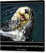 Sea Otter Motivational  Canvas Print by Fabrizio Troiani