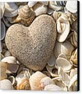 sea shell Heart Canvas Print
