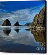 Sea Stack Blues Canvas Print by Adam Jewell
