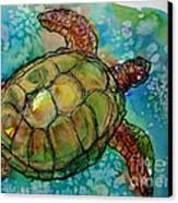 Sea Turtle Endangered Beauty Canvas Print by M C Sturman
