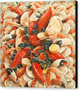 Seafood Extravaganza Canvas Print by Lincoln Seligman