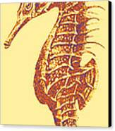 Seahorse - Right Facing Canvas Print