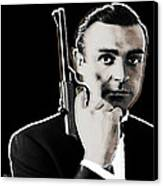 Sean Connery James Bond Square Canvas Print by Tony Rubino