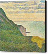 Seascape At Port En Bessin Normandy Canvas Print by Georges Seurat