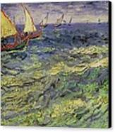 Seascape At Saintes-maries 1888 Canvas Print by Vincent van Gogh