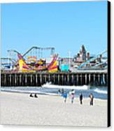 Seaside Casino Pier Canvas Print